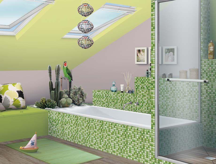 Salle de bain sous combles salle de bains pinterest Salle de bain sous combles
