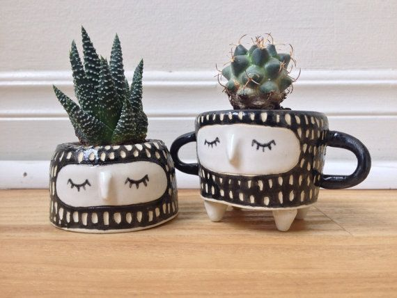 This Listing Is For: 1 Handled Plant Pot $30.00 1 Cute Plant Pot $30.00 ◊