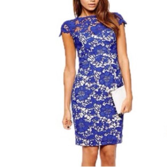 Scarlett Lace Blue Dress Women's S/M/L NEW NWT Scarlett Lace Electric Blue Dress Sizes: Small Medium Large NWT BRAND NEW! Style: Sheath Color: Electric Blue Material: Lace Crochet Condition: New with Tags! Sizes: Small, Medium and Large Available! Jade&Juliet Dresses