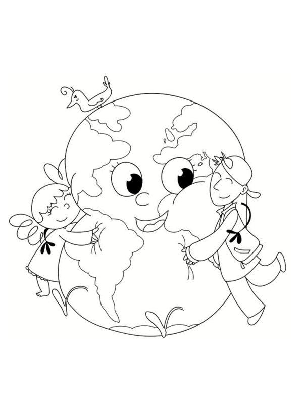 Coloriages Planète à Imprimer Gratuitement Terre Dessin