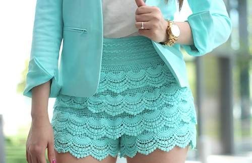 Como hacer short tejido en crochet - Imagui | saquito crochet ...
