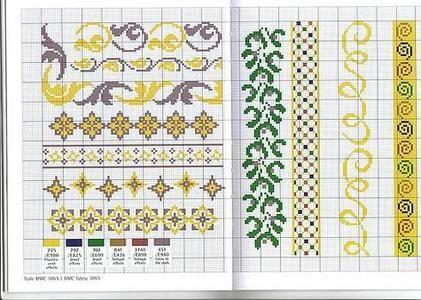 Schemi di punto croce per asciugamani punto croce varie for Schemi bordure uncinetto per lenzuola