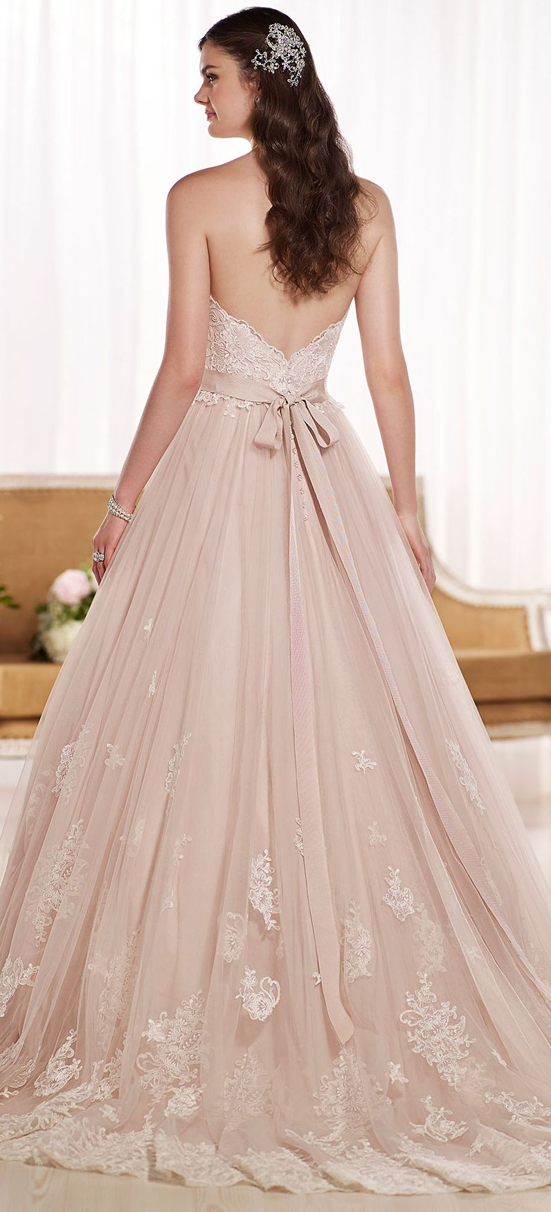Blush princess wedding gown   Wedding   Pinterest   Gowns  Princess     Blush princess wedding gown