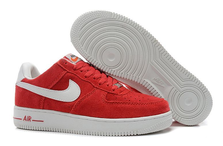 Nike Air Force Homme Suede Université Rouge Blanc http://www ...