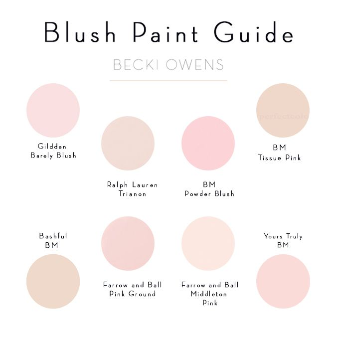 5563bd892c5b Blush Pink Paint Guide I like the upper left glidden best or the lower left  one