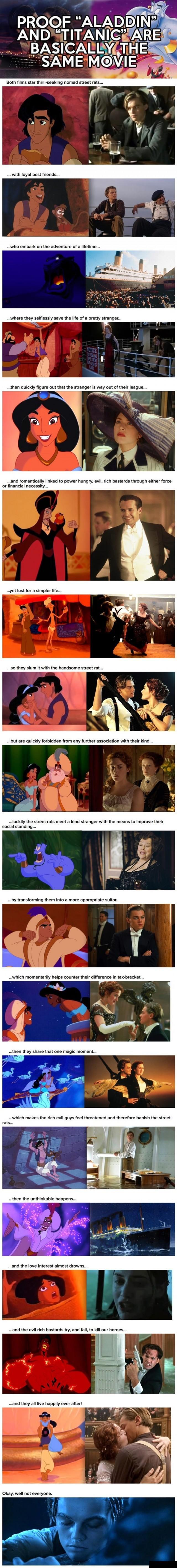 Proof Aladdin And Titanic Are Basically The Same Movie!