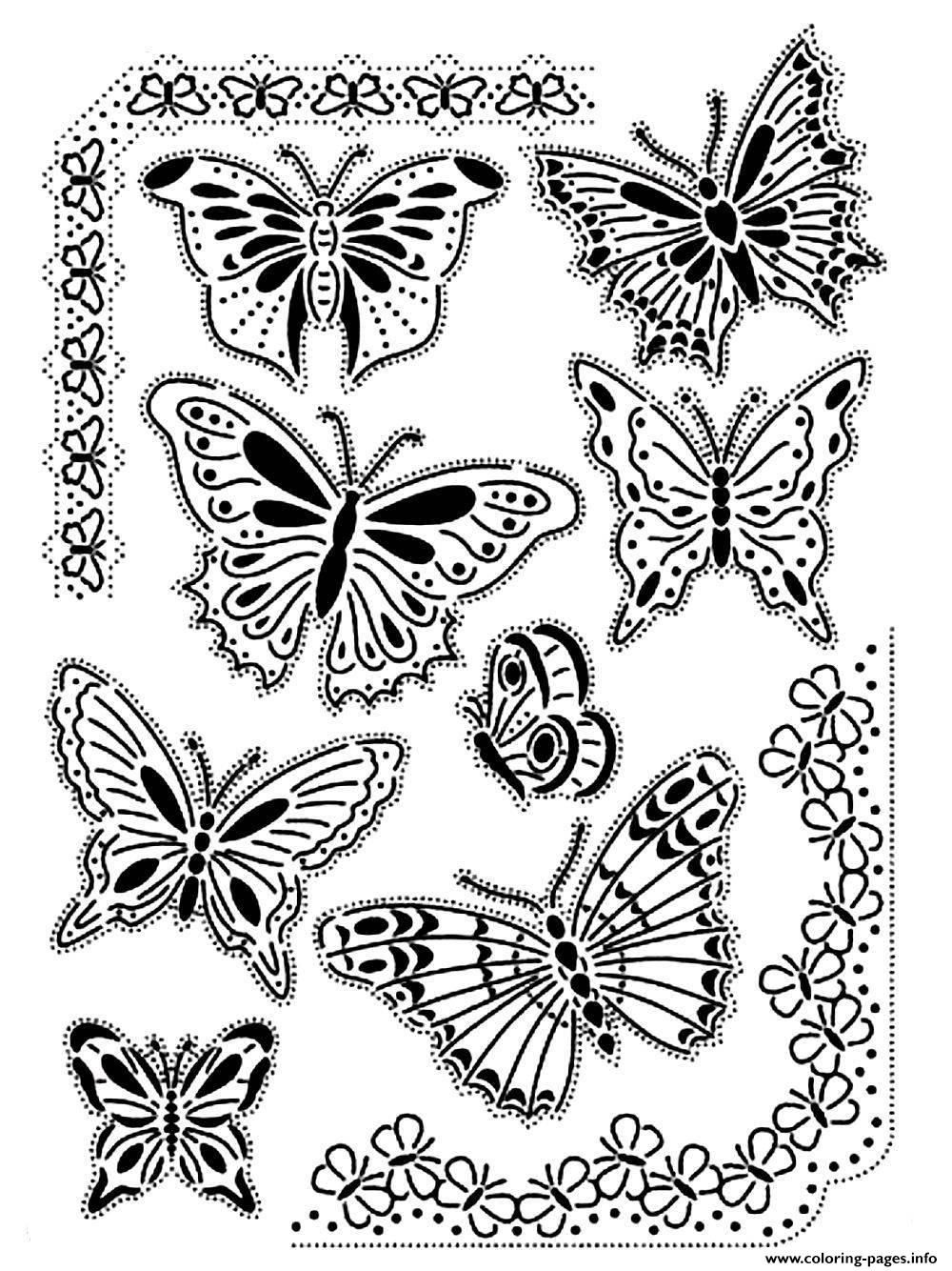 Difficult butterfly coloring pages - Coloring Pages 1451454243adult Difficult Butterflies Vintage Jpg 1000 1334