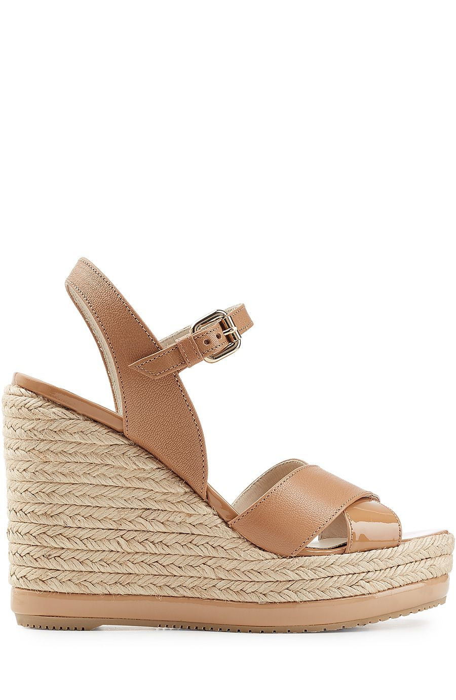 484255a7785b HOGAN Leather Wedge Sandals.  hogan  shoes  wedges