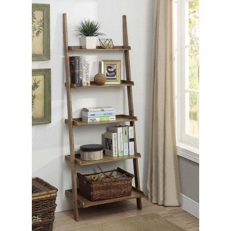 Convenience Concepts American Heritage Bookshelf Ladder Multiple Finishes Beige