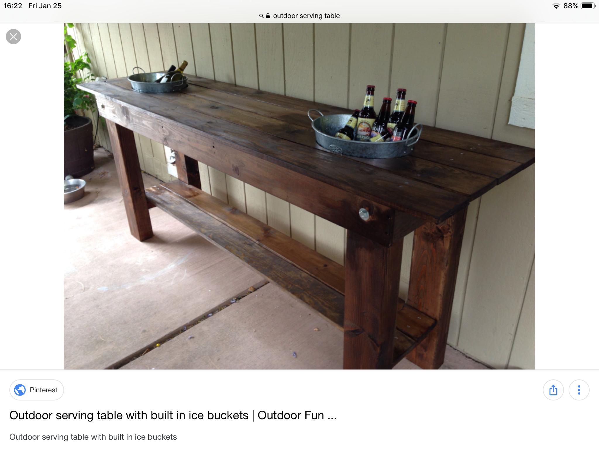 Pin By Laura Burnside On Design Outdoor Ideas Outdoor Buffet Tables Outdoor Serving Table Outdoor Buffet