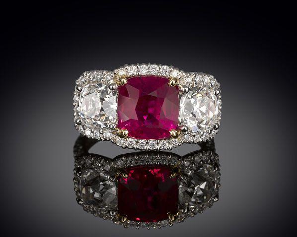 Estate Jewelry-Burma Ruby-Ruby Ring ~ M.S. Rau Antiques