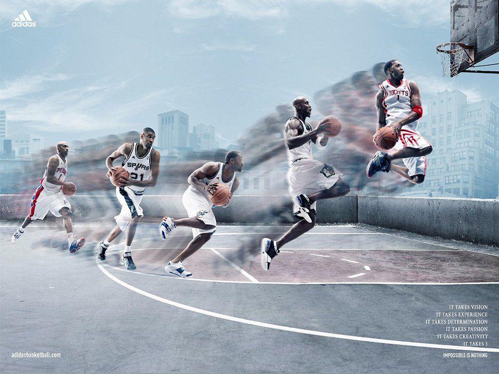 Adidas NBA print ad