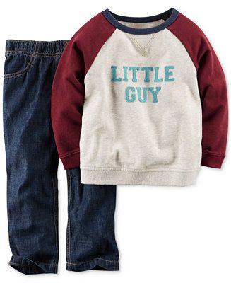 Carter's Baby Boys' 2-Piece Tee & Pants Set - Kids & Baby - Macy's