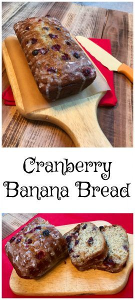 Cranberry Banana Bread With White Chocolate Chips