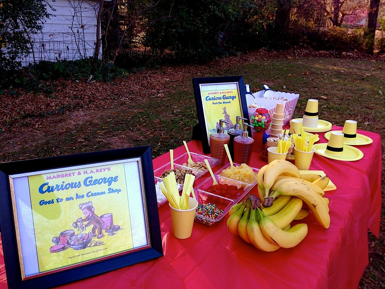 Everyday Champagne Curiously Strong Outdoor At Home Curious George Birthday Party For A 5 Year Old Boy Or Girl Banana Split Bar Scavenger Hunt
