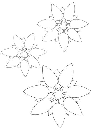Diese Blumen Bastelvorlage Und Weitere Kostenlose Bastelvorlagen Zum