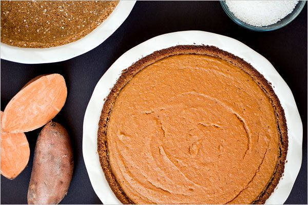Coconut-sweet potato pie with spiced crust. Click on the image for the complete recipe. Photo: Evan Sung for The New York Times