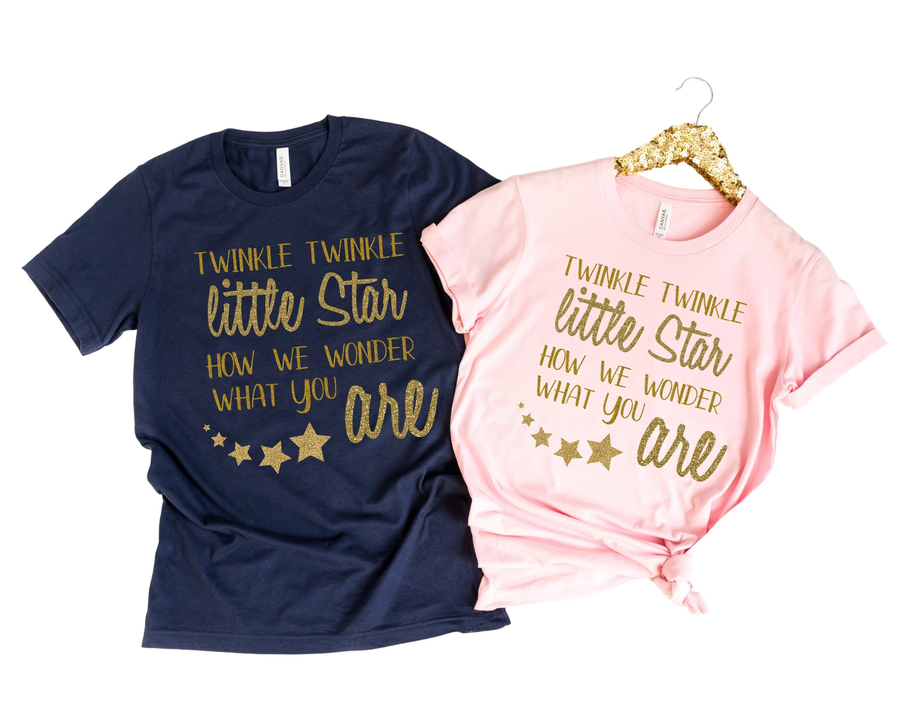 Baby Gender Reveal Matching Tshirt Twinkle Twinkle Little Star Gender Reveal Tshirt Pregnant Couple Match Baby Gender Reveal Gender Reveal Gender Reveal Shirts