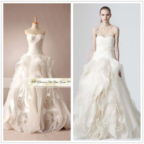 Custom Made Vera Wang Wedding Dress 2013 Vintage Lace Long