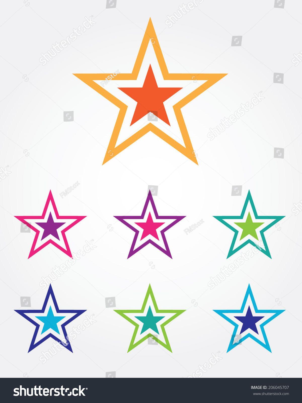 Funky Vector Star Icon Set Ad , AFF, VectorFunkyStar