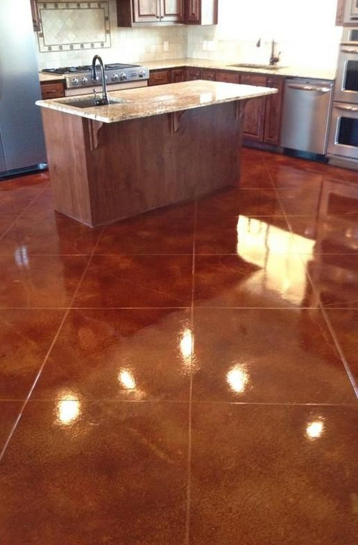 High Gloss Stained Concrete