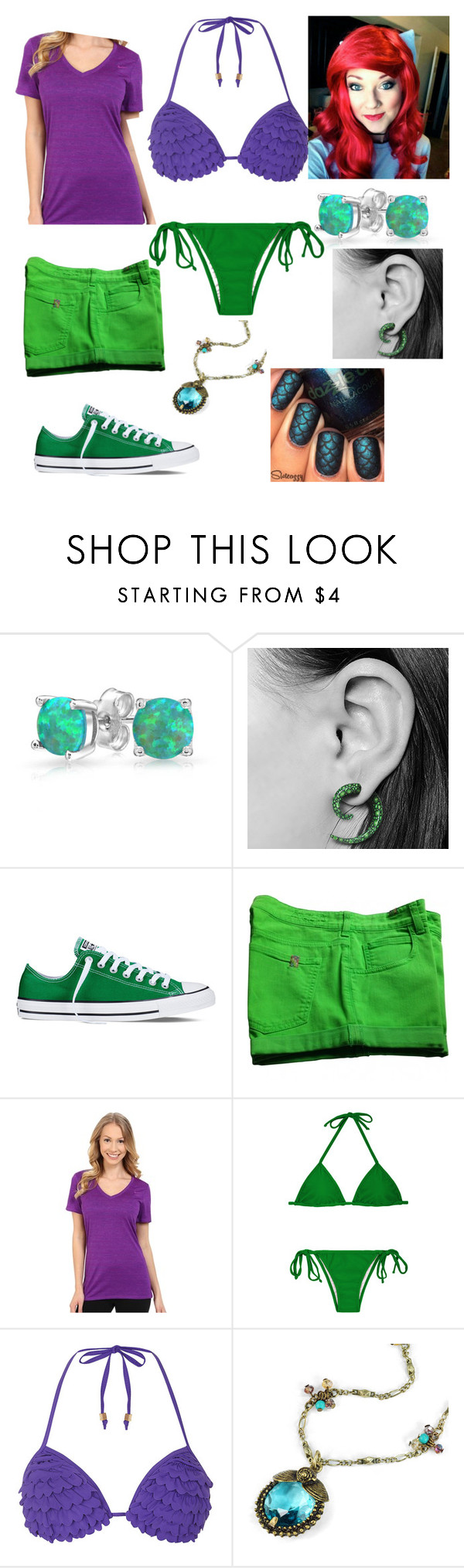 """""""The Little Mermaid (Ariel)"""" by hayleyhudson62 on Polyvore featuring Bling Jewelry, Converse, Notify, NIKE, Dorothy Perkins and Sweet Romance"""