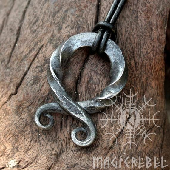 Forged Troll Cross Viking Pendant Twisted Handmade Nordic Protection Amulet #vikingsymbols
