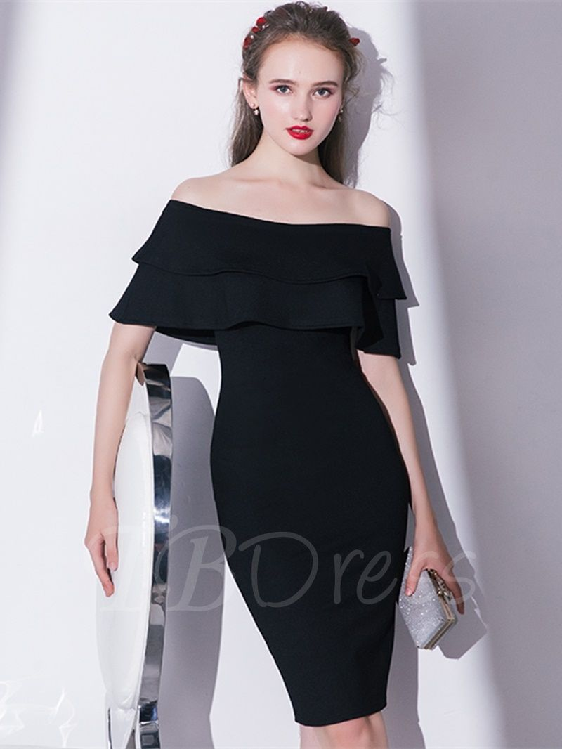 Sheath offtheshoulder pickups homecoming dress homecoming