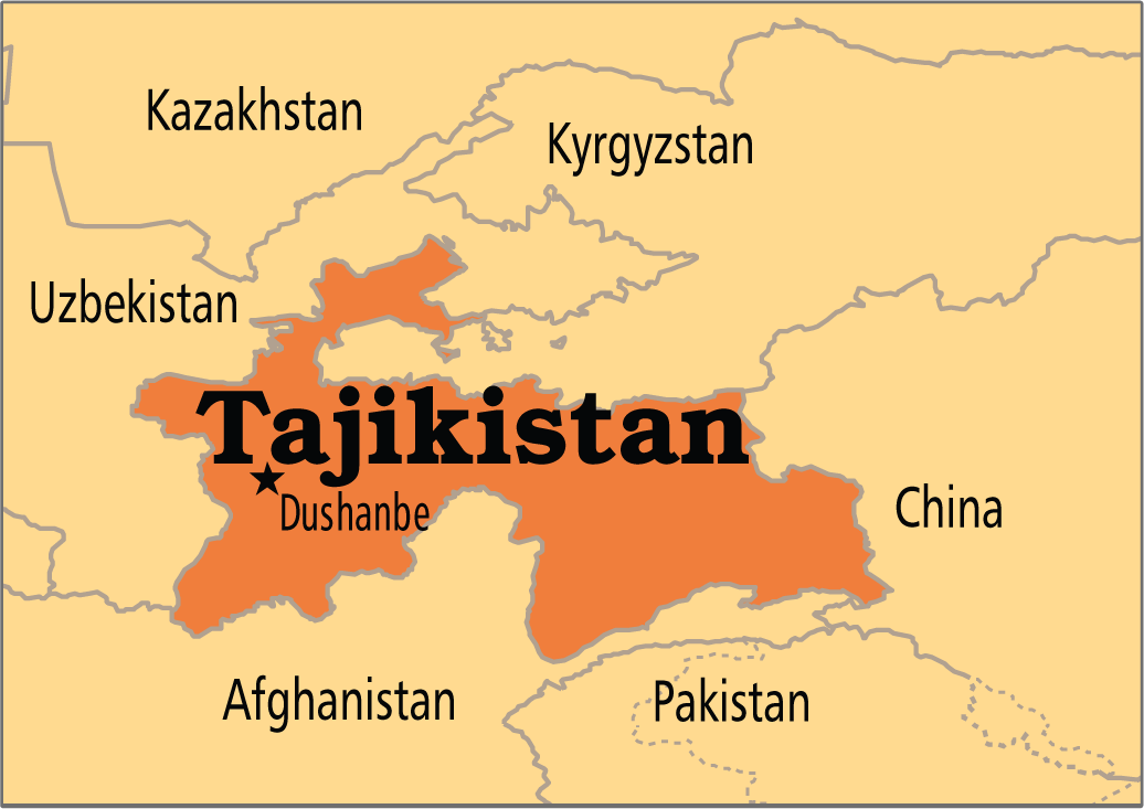 A map of Tajikistan  4 Tajikistan Central Asia  Pinterest  Asia