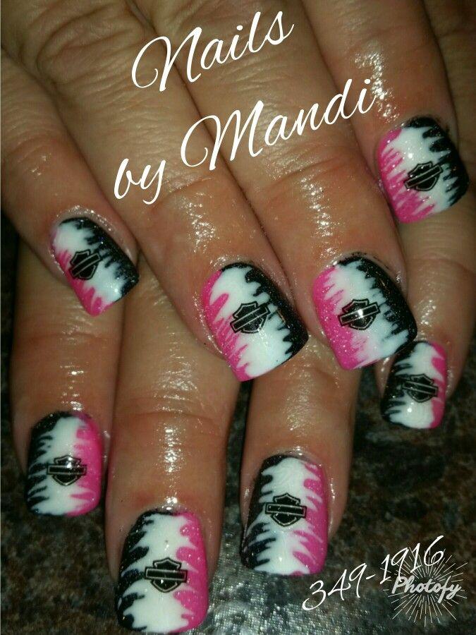 Harley Davidson nails Harley Davidson, Toe Nail Art, Toe Nails, Acrylic  Nails, - Harley Davidson Nails Nails Pinterest Nails, Nail Art And Nail