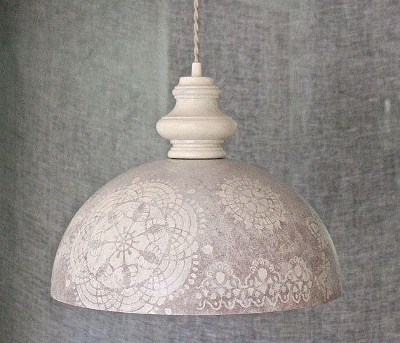 Vintage White Scandinavian Style Hanging Pendant Modern