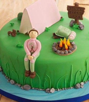 Camping-cake camper-cake