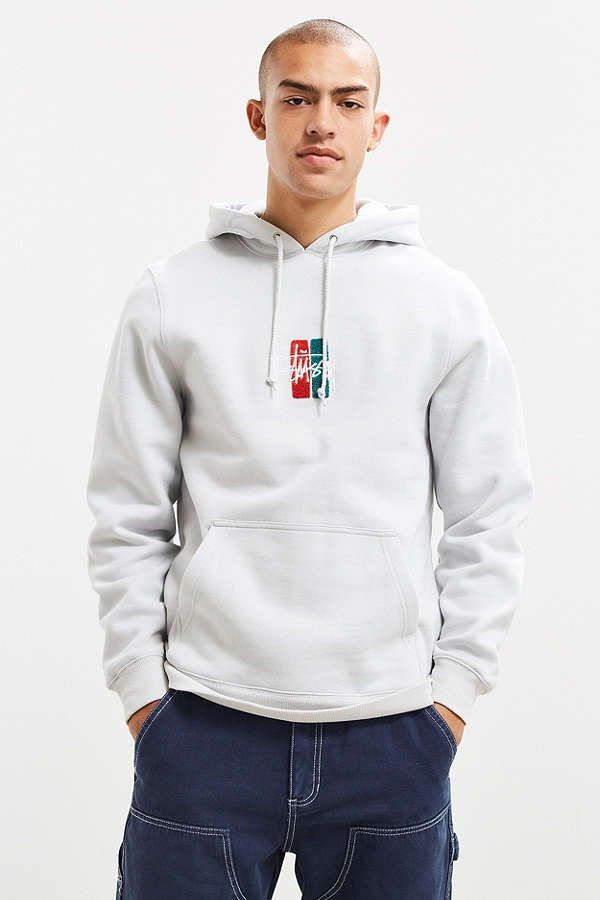 ff2036102cce Stussy Bars Logo Embroidered Applique Hoodie Sweatshirt