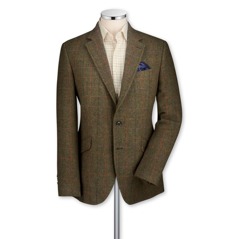 Sharp. Green Yorkshire tweed classic fit sport coat | Men's sport