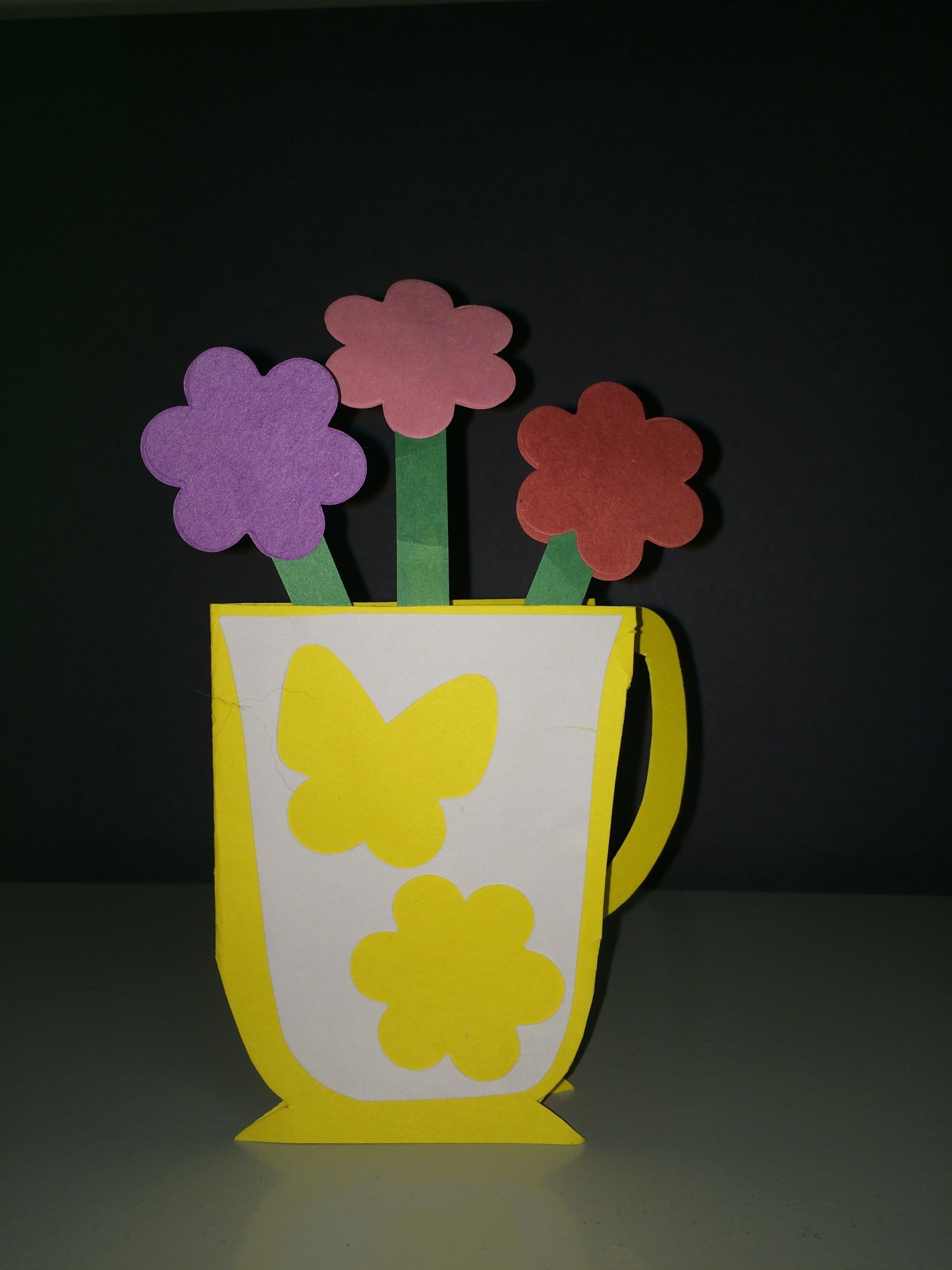 Tea Cup Card Fold In Half Colored Paper Of Your Choice Draw Cut