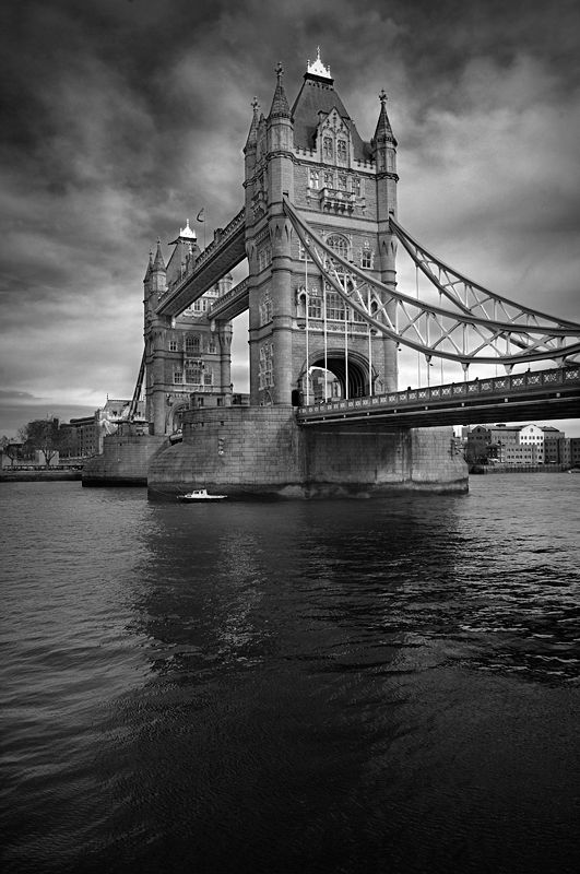 Tower Bridge in London. Not the London bridge! (Obviously it's a London bridge, but it often gets mistaken for THE London bridge!)