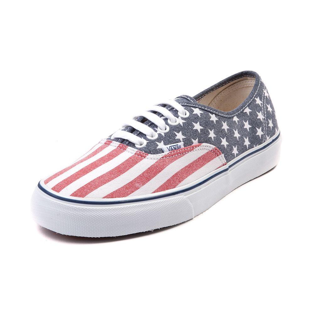 b0e4d054f539 Vans Authentic Stars Stripes Skate Shoe
