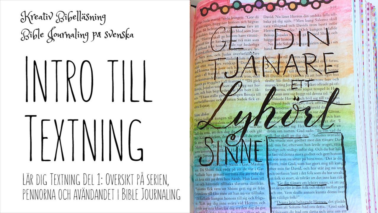 Introduktion Till Textning Kreativ Tro Bibel Ondska Kreativ