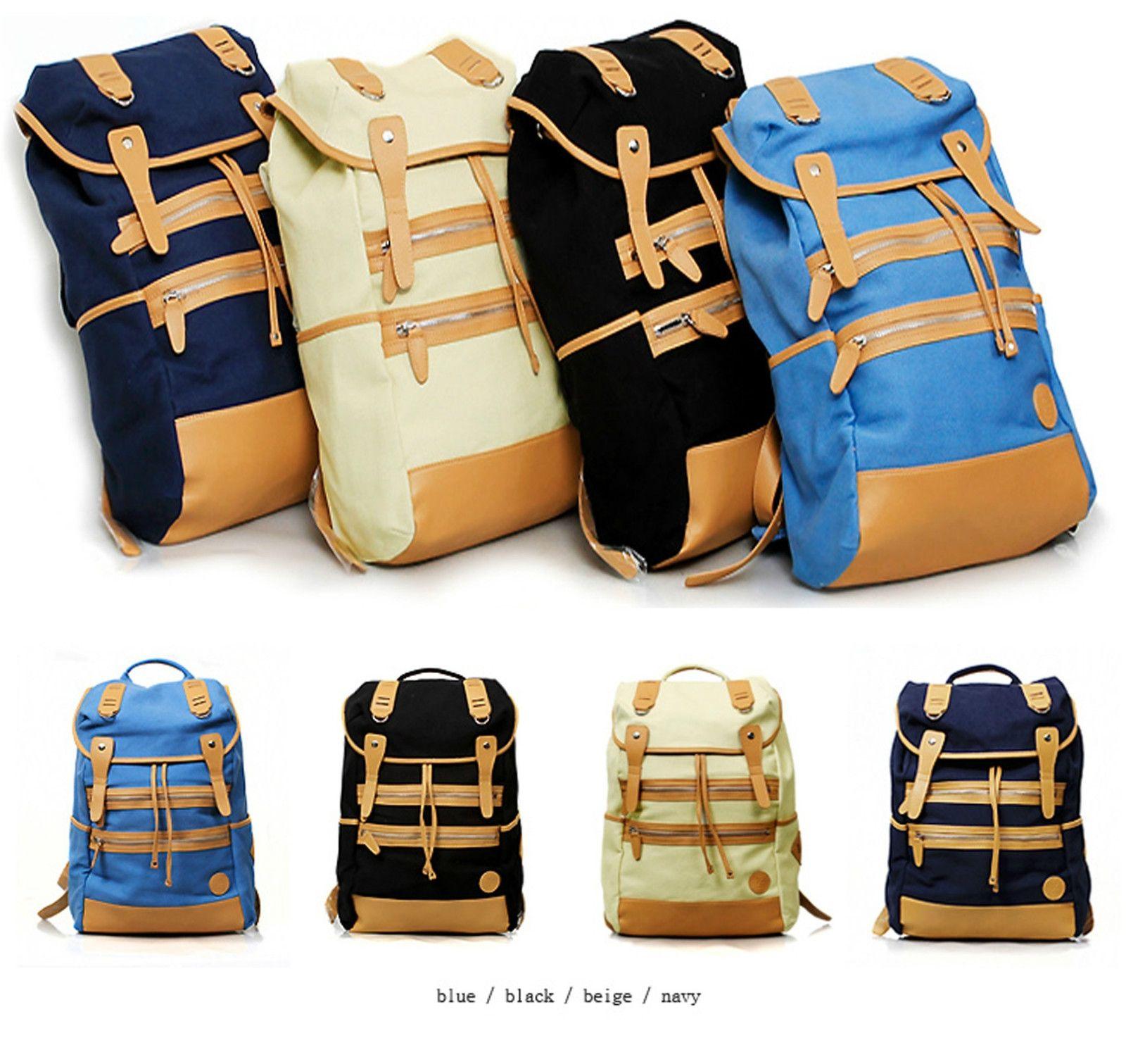 WOMENS MENS BACKPACKS SCHOOL BAG FASHION DESIGNED CANVAS BOOK BAG 2012S/SNWT -US $35.82