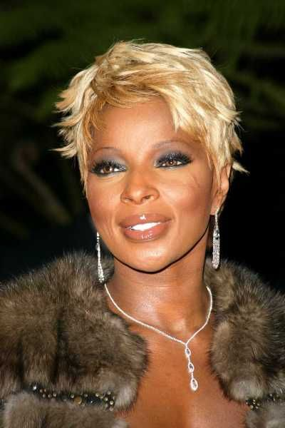 Mary J Blige Short Blond Style Short Hair Styles Easy Short Black Hairstyles Short Hair Styles