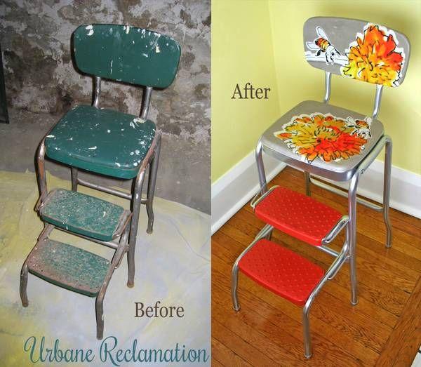 Upcycled Vintage Step Stool Stool Makeover Vintage Stool