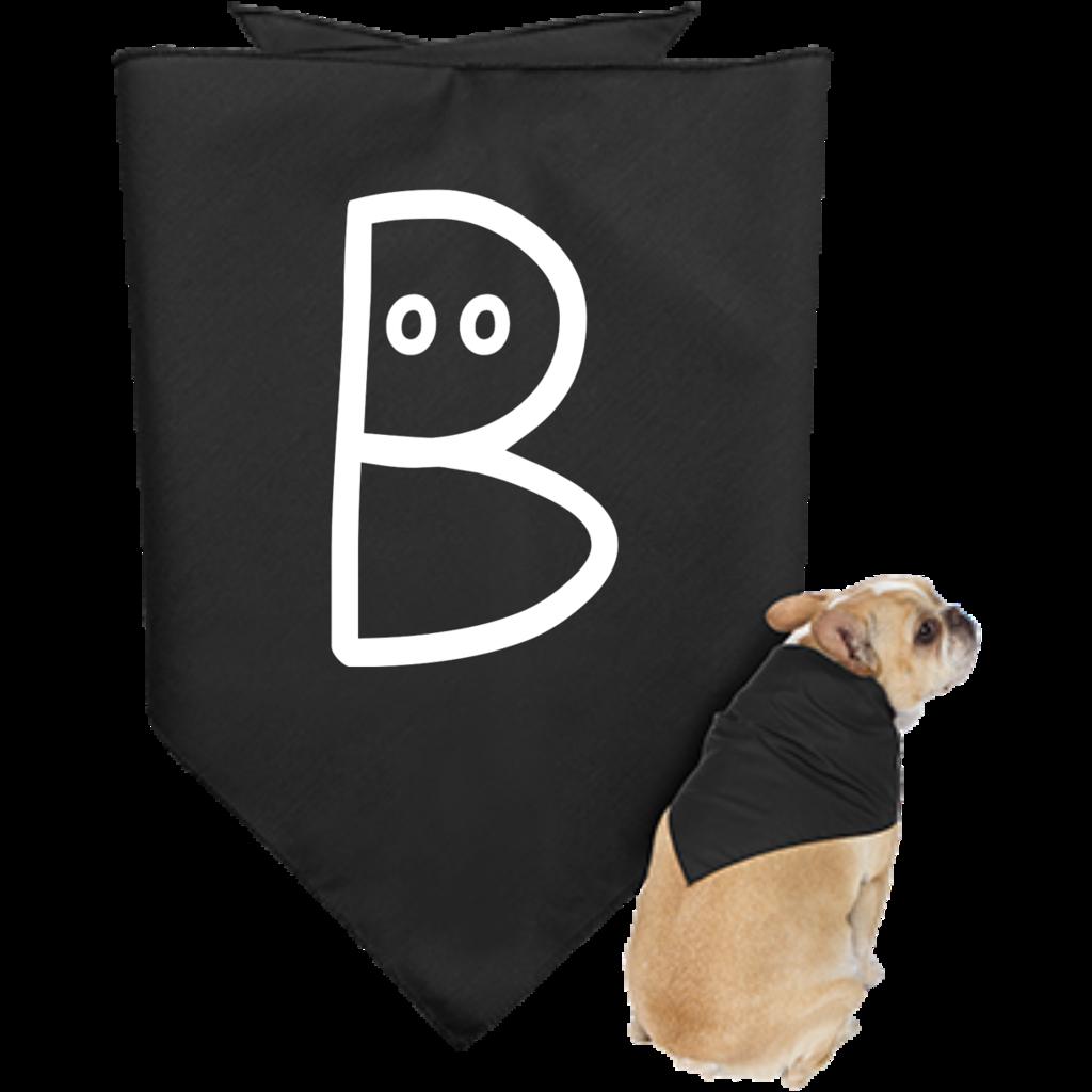 Boo Doggie Bandana, White Design – Optic Poem Design
