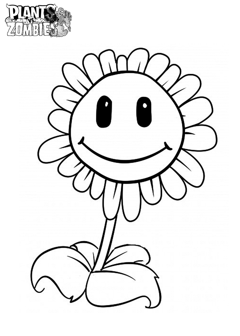 Printable coloring pages plants vs zombies - Free Printable Plants Vs Zombies Coloring Pages For Kids