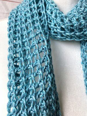Blue lace tunisian crochet scarf in 2018 | Pinterest Mini-Mall Viral ...