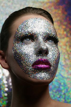Gorgeous creative, glittery, embellished make up looks from Sing Lo Photography.