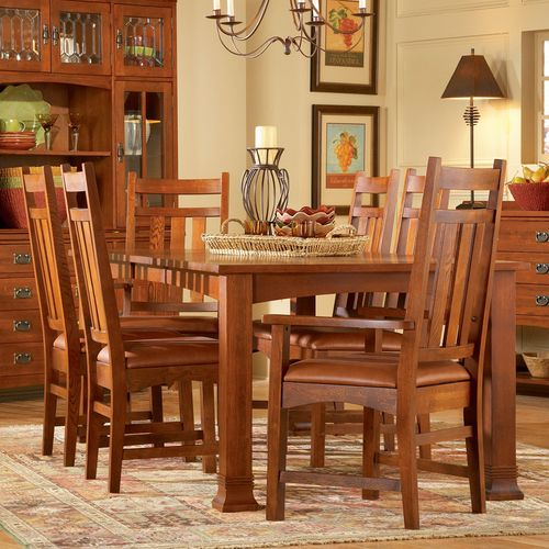 Prairie Mission Rectangle Dining Table Chairs Mastercraft