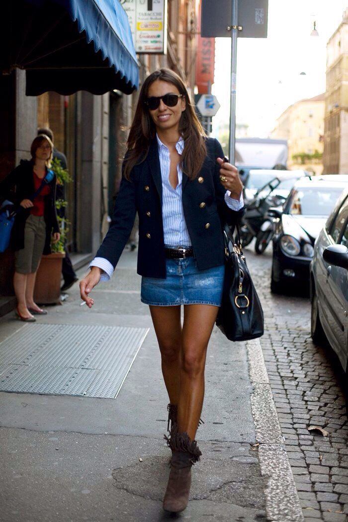 Como Usar Cinto My Style Pinterest Denim Skirts And Fashion