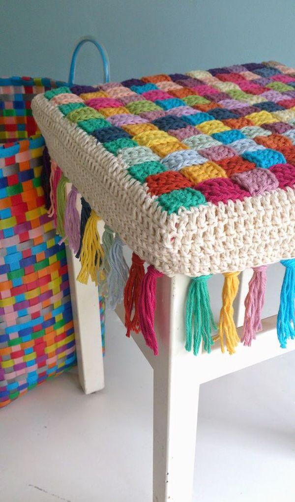 Cubre piso silla crochet tutorial crochet pinterest - Cubre piso alfombra ...