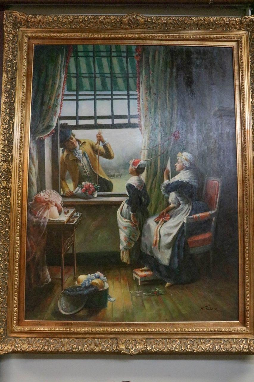19th Century Oil Painting Portrait of a European
