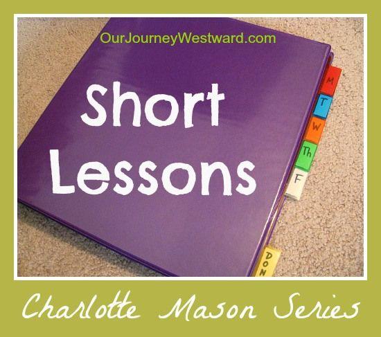 Short Lessons in a Charlotte Mason homeschool
